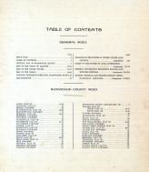 Table of Contents, McDonough County 1913