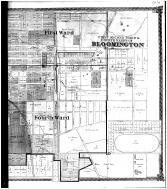 Bloomington First Second Third and Fourth Wards - Right,final, McLean County 1874 Microfilm
