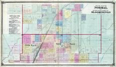 Normal - South, Bloomington - Fifth and Sixth Wards, McLean County 1874