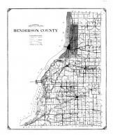 Henderson County Map, Mercer and Henderson Counties 1914