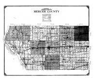 Mercer County Map, Mercer and Henderson Counties 1914