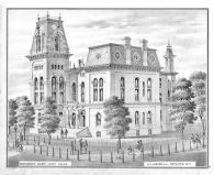 Montgomery County Court House, Montgomery County 1874