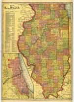 Illinois State Map, Montgomery County 1912