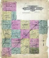 Montgomery County Outline Map, Montgomery County 1912