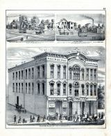 Gallahers Block, West State St., J.S. and G.S. Russell, Lumber Yard, George Graff, T.W. and W. Railway, Morgan County 1872