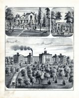 Illinois State Hospital for the Insane, Governor Richard Yates, J.T. Springer, Residence, Jacksonville, Morgan County 1872