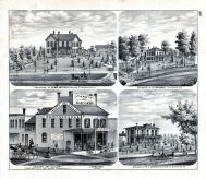 Tandy's Art Gallery, J.W. Melton, R.C. Johnson, Lewis Hatfield, H.G. Wiswall, Residence, Grocer, Jacksonville, Morgan County 1872