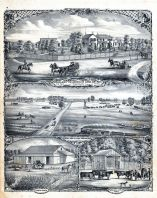 Woodlawn Residence, Judge Samuel Wood, Morgan County, Farm, Horse Barn, Scales and Cattle Yards, Morgan County 1872