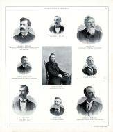 George A. Scherer, Theodore J. Muller, Alt Gerdes, James A. Hutchinson, Charles Kothe, Chas. F. Hitchcock, J.E. Dechman, James Ward, Peoria City and County 1896