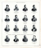 Goerge B. Sucher, Theodore Breyer, Henry J. Weisbruch, Theodore B. Weisbruch, C.C. Magenheimer, S.F. Atwood, P.A. Flanagan, Peoria City and County 1896