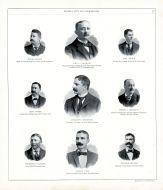 Henry Singer, John C. Streibich, Emil Singre, Chas Singer, William F. Meidroth, Henry E. Potthoff, Frederick Olander, George Laub, Edward Gerard, Peoria City and County 1896