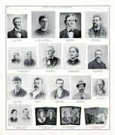 M.M. Miller, C.A. Hausser, Alanson Hakes, Henry Randall, A. Moffatt, W.C.H. Barton. Mary A. Barton, Ira McCartney, Peoria City and County 1896