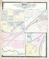 Peoria - South and Sections 19 and 20, Peoria City and County 1896