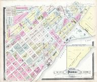 Peoria Sections 2 and 3, Peoria City and County 1896