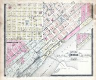 Peoria Sections 9 and 10, Peoria City and County 1896