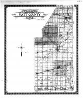 Piatt County Outline Map, Piatt County 1910