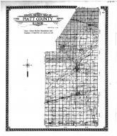 School District Map, Piatt County 1910