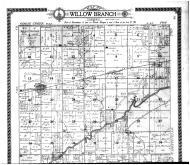 Willow Branch Township, La Place, Galesville - Above, Piatt County 1910