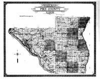 Pike County Outline Map, Pike County 1912 Microfilm