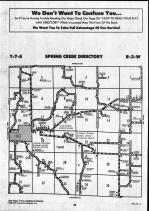 Spring Creek T7S-R3W, Pike County 1990 Published by Farm and Home Publishers, LTD