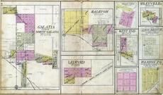 Galatia, Raleigh, Ledford, Texas City, Rileyville, West End, Long Branch, Wasson, Saline County 1908