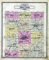 Saline County Outline Map, Saline County 1908