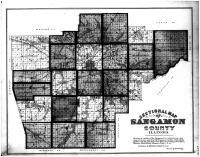 Sangamon County Map, Sangamon County 1874