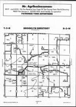 Schuyler County Map 006, Schuyler and Brown Counties 1990