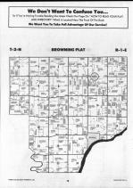Schuyler County Map 007, Schuyler and Brown Counties 1990
