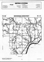 Schuyler County Map 008, Schuyler and Brown Counties 1990