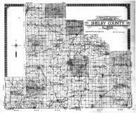 Shelby County Outline Map, Shelby County 1914