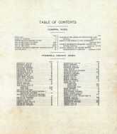 Table of Contents, Tazewell County 1910