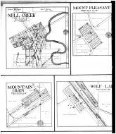 Mill Creek, Mount Pleasant, Mountain Glen, Wolf Lake, Balcom, Lick Creek, Reynoldsville, Springville, Peru - Left, Union County 1908