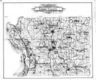 Union County Outline Map, Union County 1908