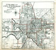 Danville City and Environs Index Map, Vermilion County 1915