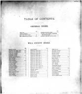 Table of Contents, Will County 1893
