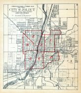 Joliet City - Ward Map, Will County 1909 to 1910
