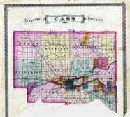 Cass County Outline Map, Cass County 1878