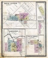 Royal Center, Galveston, Anoka, Herman City, Young America, Cass County 1878