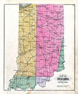Indiana Showing System of Government Surveys, Daviess County 1888