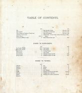 Table of Contents, Daviess County 1888