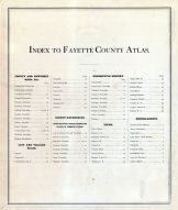 Table of Contents, Fayette County 1875