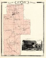 Clay County, Indiana Counties 1876