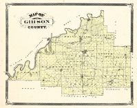 Gibson County, Indiana Counties 1876