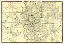 Indianapolis - Plan, Indiana Counties 1876