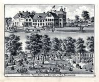 Beer Garden and Brewery, C. L. Centlivre, St. Joe River, Fort Wayne, Indiana State Atlas 1876