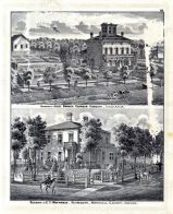 C. T. Mattingly Residence, Judge Horace Corbin, Plymouth, Marshall County, Indiana State Atlas 1876