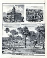 Jonas Votaw, Adams County Court House, David Studabaker Residence, Decatur, Portland, Jay County, Indiana State Atlas 1876