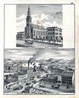 T. and J. W. Gaff and Company, St. Lawrence Catholic Church and School, Pastor John F. Sondermann, Indiana State Atlas 1876