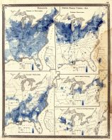 Census 1870 - Population - Density, Foreign, Colored, British American, Swedish, Norwegian, Indiana State Atlas 1876
